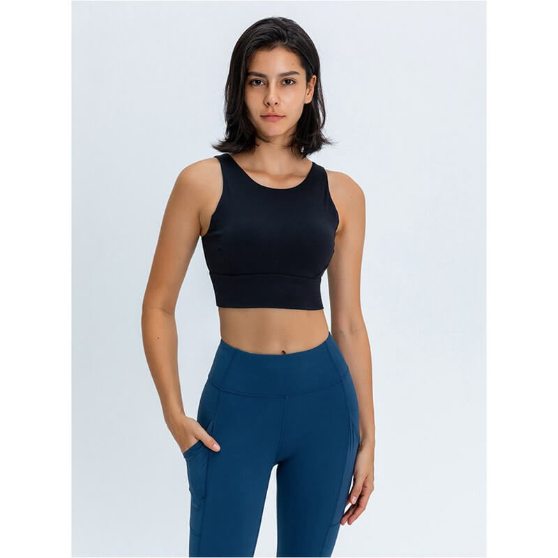 Pullover Style and Removeable Pads High support Sports Bra