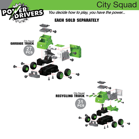 Power Drivers City Squad: Garbage Truck