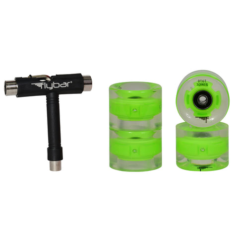 Light Up LED Skate Wheel Replacement Set