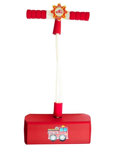 My First Foam Pogo Jumper with Flashing Lights & Siren - Fire Truck