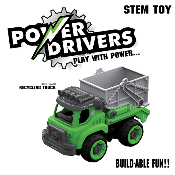 Power Drivers City Squad: Recycling Truck