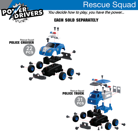 Power Drivers Rescue Squad: Police Cruiser