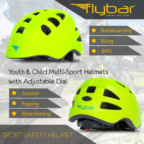 Flybar Junior Sports Helmet Green
