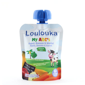 Loulouka Organic My ABC's - Apple, Banana & Carrot Baby Pouchy (90g) 6 months+