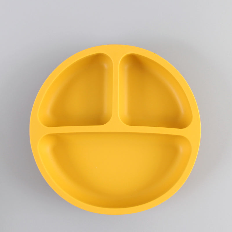 Silicone Divided Suction Plate (Mustard)