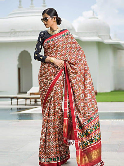 Red Patola Saree