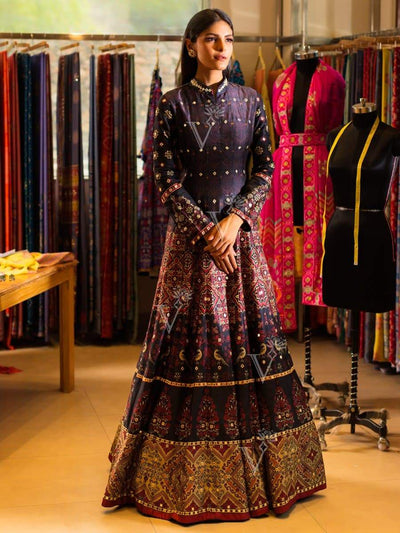 Black Silk Anarkali Gown 2020