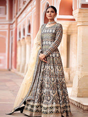 Handcrafted Gotta Patti Silk Anarkali - 2019