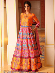 Anarkalis, Anarkali Gown, Gowns, Gown, Light Wear, Casual Wear , Party Wear, Printed Gowns, Prints, Printed Gown, Jaipuri Prints