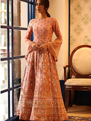 Light Pink Chanderi Silk Gown
