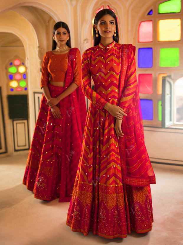 Vasansi Signature Leheriya Anarkali - 2019