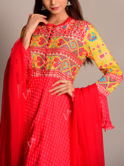 Leheriya Anarkali Suit