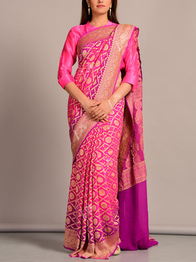 Pure Georgette Ghat Chola Saree