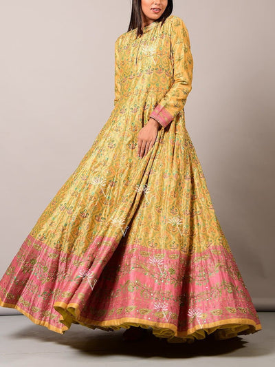 Yellow Vasansi Anarkali Gown