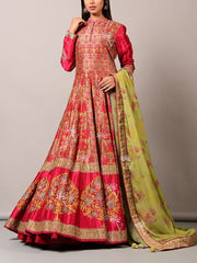 Red Vasansi  Anarkali Gown