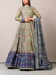 Grey Vasansi  Anarkali Gown