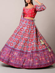 Purple Patola Lehenga Set