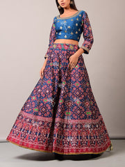 Lehenga, Lehenga set, Lehengas, Printed, Zari, Sequence, Bright, Party wear, Choli, Navratri, Rajsathani, Navratra, Patola
