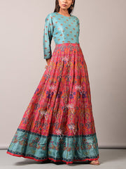 Blue Vasansi Silk Anarkali Tunic