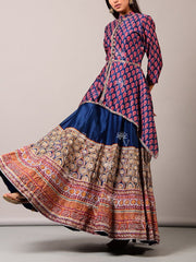 Blue Anarkali Set