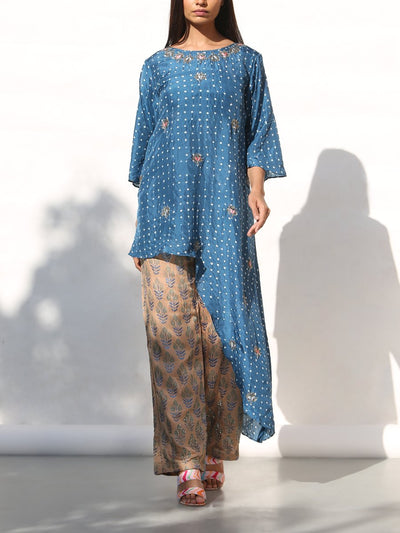 Pant set, Embroidered, Fusion wear, Indo western, One shoulder, Asymmetric, Pants, Printed, Embroidered, DD00, _label_NEW