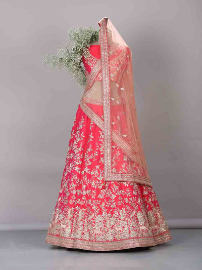 Lehenga, Lehenga set, Lahanga, Lahenga, Bridal, Raw silk, Raw silk lehenga, Silk lehenga, Wedding wear, Wedding outfit, Trousseau, Handcrafted, Heavy, Designer wear, DD00, _label_NEW