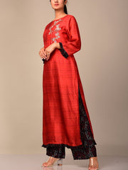 Crimson Red Kurta Set
