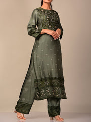 Olive Green Kurta Set