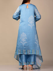 Powder Blue Bandhani Kurta Set