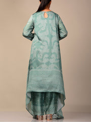 Light Teal Bandhani Kurta Set