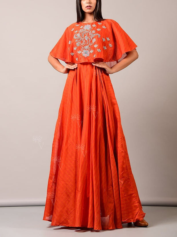 Lehenga, Lehenga set, Skirt, Cape top, Embroidered, Haldi outfit, Indo western, Fusion wear
