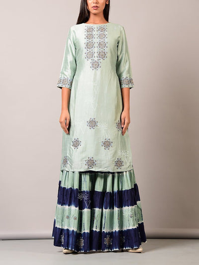 Sharara, Sharara set, Printed, Party wear, Embroidered, Silk, Designer wear
