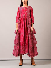 Indo Western, Fusion wear, Ruffle, Dress, Tiered, Dresses, Western wear, Designer wear, Party wear