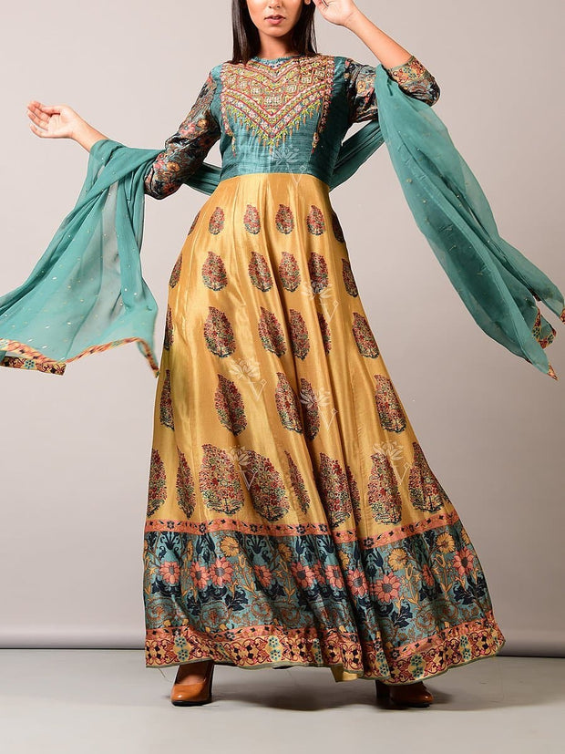 Anarkali, Anarkalis, Angrakha, Gown, Gowns, Long kurti, Western, Printed, Regular wear, Party wear