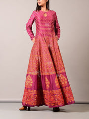 Pink Cotton Silk Anarkali Gown