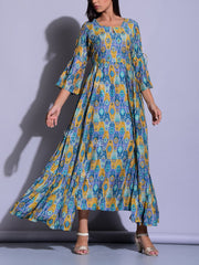 Persian Blue Printed Tunic