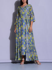 Tunic, Floor Length, Dress, Dresses, Printed, A-Line, Straight, Maxi Dress, Western Dress