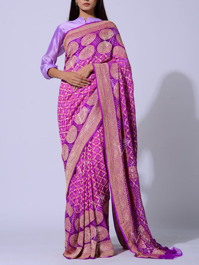 Saree, Sarees, Real zari, Bandhnai, Bandhej, Ghat chola, Gharchola, Pure georgette, Georgette, 100% georgette, Power loom, Handloom, Dropship, _label_NEW
