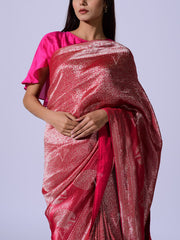Pink Dola Silk Weaving  Saree