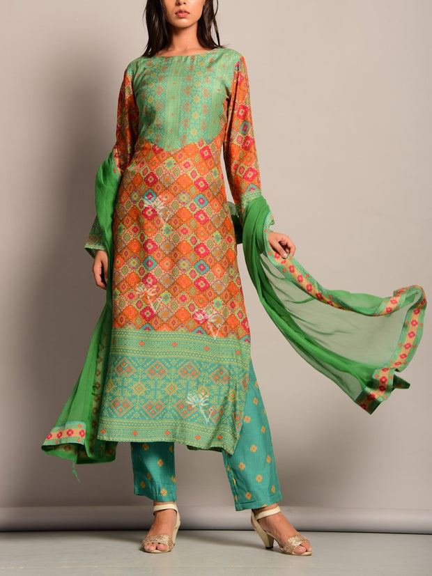 Suit, Suit Set, Printed, Regular Wear, Festive Wear, Traditional, Traditional Wear