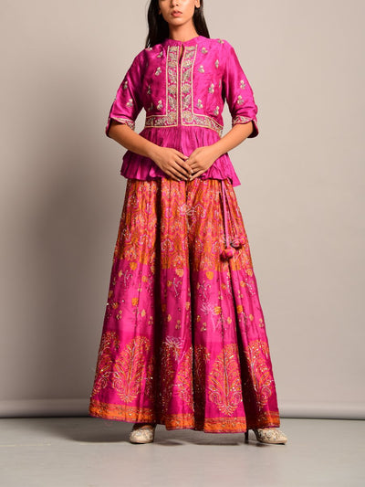Lehenga, Lehenga Set, Peplum, Traditional, Contemporary, Festive Wear, Wedding Wear