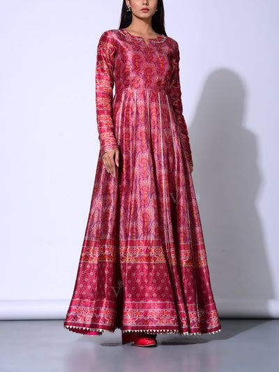 Mulberry Vasansi Silk  Anarkali Gown