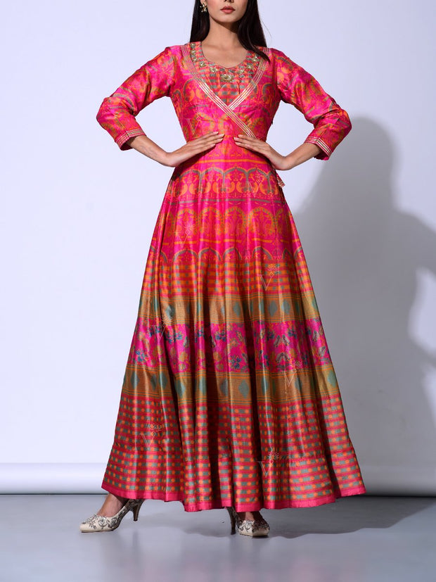 Anarkali, Anarkalis, Gown, Gowns, Floor length, Light weight, Printed, Traditional, Traditional outfit, Traditional wear, Party wear_label_NEW, MTO, DD28, U1