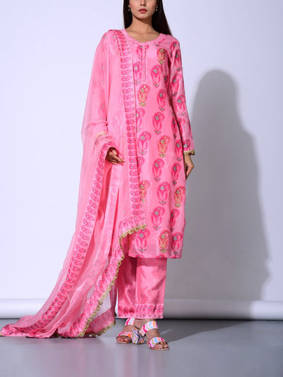 Baby Pink Vasansi Silk  Suit Set