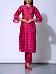 Suit, Suit set, Light weight, Traditional wear, Traditional outfit, Traditional, Regular wear, Casual wear, Embellished, Embroidered, Silk, Vasansi silk_label_NEW, MTO, DD28, U1