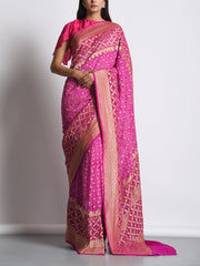 Saree, Sarees, Realzari, Powerloom, Traditional, Traditional wear, Traditional outifit, Rajasthani, Georgette, DD00
