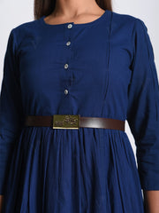 Royal Blue Cotton Skater Dress