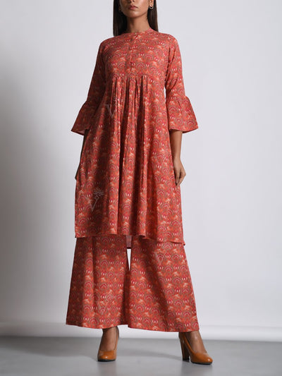 Pant set, Co-ord, Cotton, Pure cotton, 100% cotton, Western, Modern, Printed, Palazzo, Palazzo set, DD28, U2