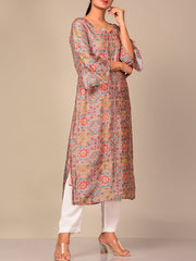 Light Pink Printed Kurti