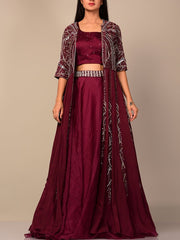 Lehengas, Lehenga Set, Crop Top Set, Party Wear, Stylish, Heavy Outfit